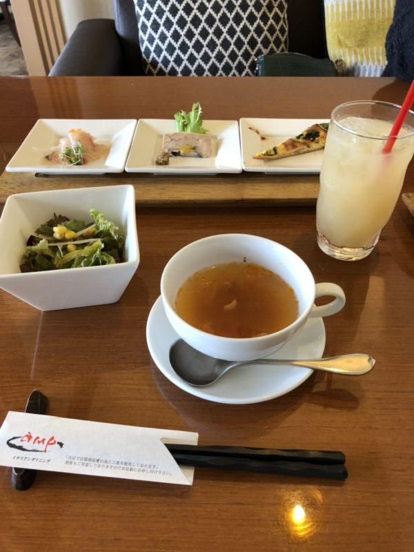 プチ贅沢コースの前菜+サラダ+スープ+ドリンク