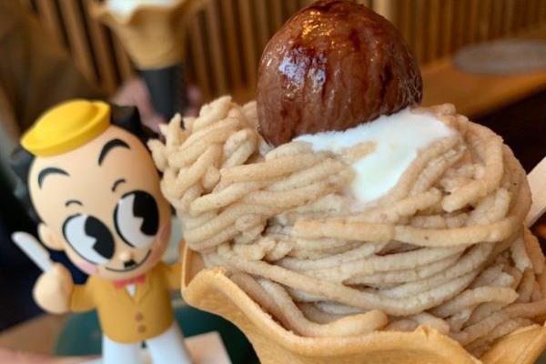 【福岡スイーツ】寒い時のソフトクリームって最高!季節を感じるモンブランソフト『氷菓子屋KOMARU』