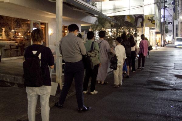 『アマムダコタン表参道店』プレオープン時の行列